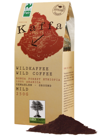 Kaffa wild coffee medium roasted, ground, organic & fair trade, 250 g
