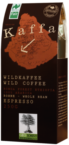 Kaffa Espresso wild grown forest coffee, Ethiopia, ground, 250 g, organic
