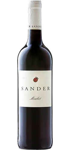 Merlot Weingut Sander, pure organic red wine, from € 9.40