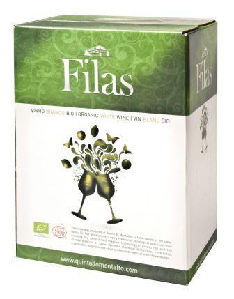 Quinta do Montalto, Filas, pure organic white wine 3 liter bag in box