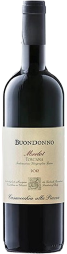 Merlot Toscana IGT Buondonno,  pure organic red wine, 2015