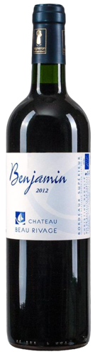 "Château Beau Rivage ""Benjamin"", Bordeaux superieur, organic wine, from € 13.95"