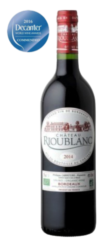 Château Rioublanc Bordeaux, organic wine, red, from € 8.30