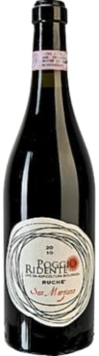 "Poggio Ridente Ruchè, ""San Marziano"" pure organic red wine, from € 13,60"