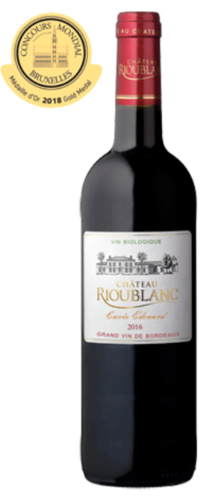 Château Rioublanc Cuvée Edouard, Bordeaux AOC, organic wine pure, red from 9.80 €