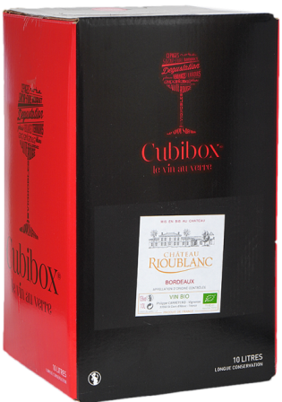 Château Rioublanc Bordeaux organic wine, red, bag in box 10 l